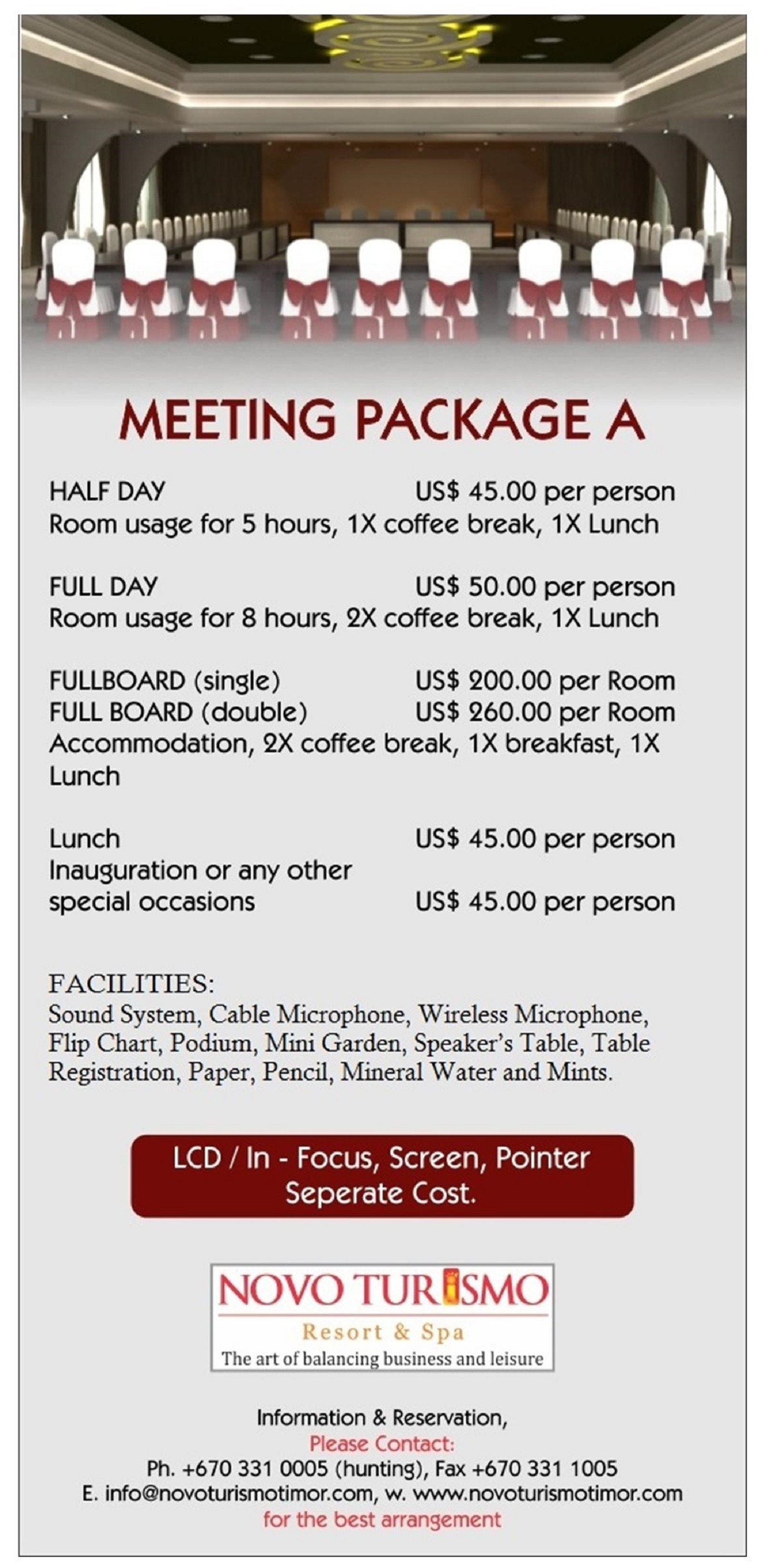 Meeting Room Package dili hotel